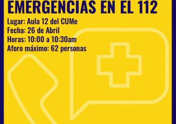 Charla sobre gestión de emergencias 112